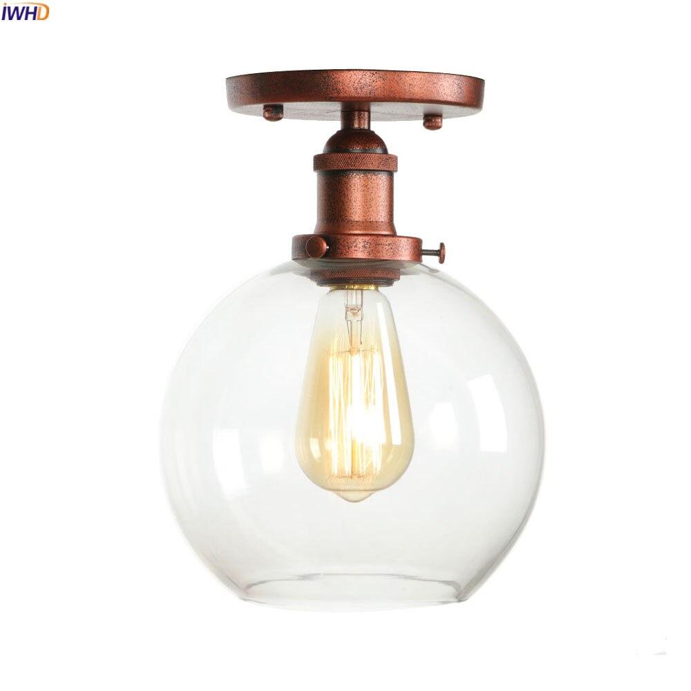 Deckenleuchten Iwhd Loft Industriellen Stil Led-deckenleuchte Leuchte Wohnzimmer Glas Ball Edison Vintage Decke Lampe Plafonnier Lampara Techo Wir Nehmen Kunden Als Unsere GöTter Licht & Beleuchtung