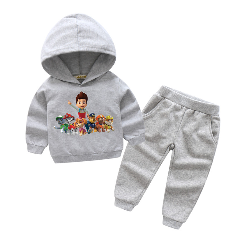 2018 Children New Hot Cartoon Dog Style Clothes Sets For Boy Girls Clothing Kids Spring Cotton Tracksuits Baby Sport Suits TZ012 new brand 2pcs ofcs baby boy sets cotton spring