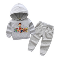 2018 Children New Hot Cartoon Dog Style Clothes Sets For Boy Girls Clothing Kids Spring Cotton
