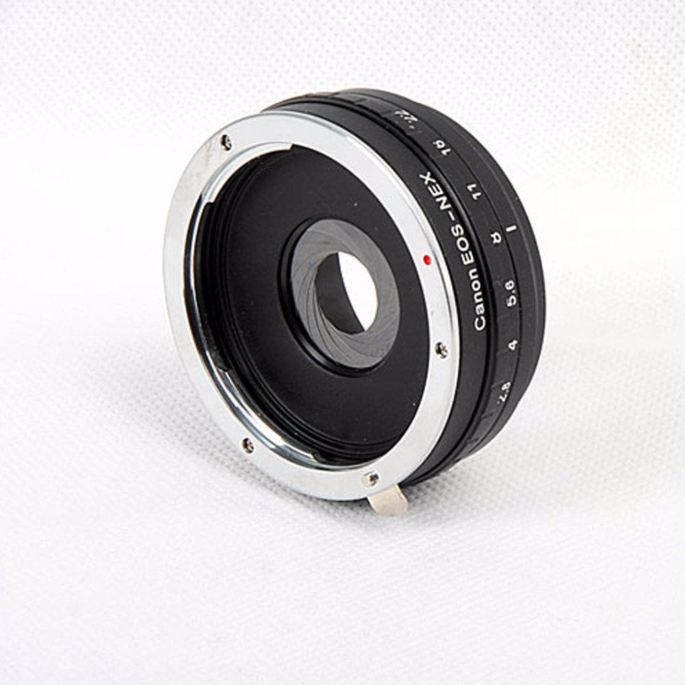 Build in Aperture Lens Adapter Ring for Canon EOS EF Lens for SONY NEX E Mount Adapter NEX-7 NEX-5 -3 meida universal speedlight to hot shoe adapter for sony nex 3 nex 3c more silver
