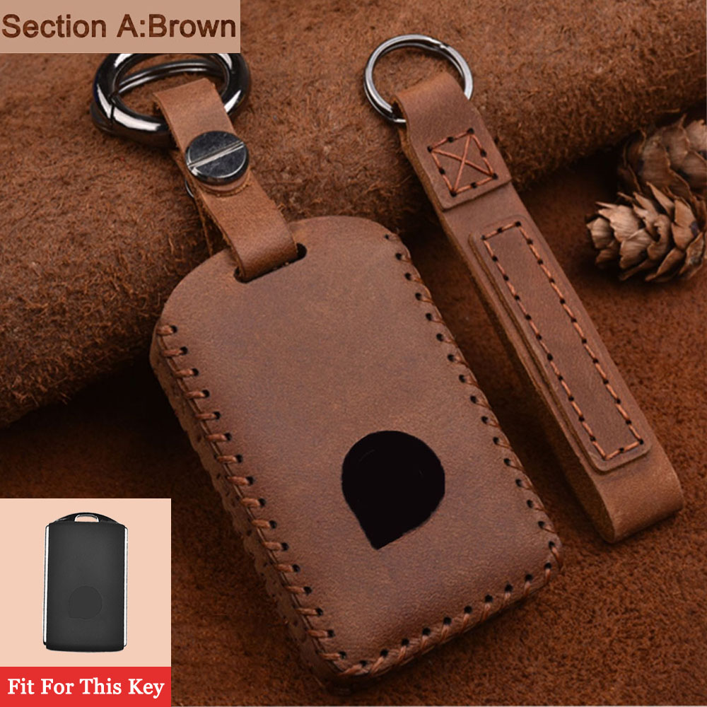 Leather Car Key Cover Case Shell keyFob For Volvo XC40 XC60 XC70 XC90 S60 S80 S90 C30 V60 V70 V90 VX90 2015-2018 car Styling