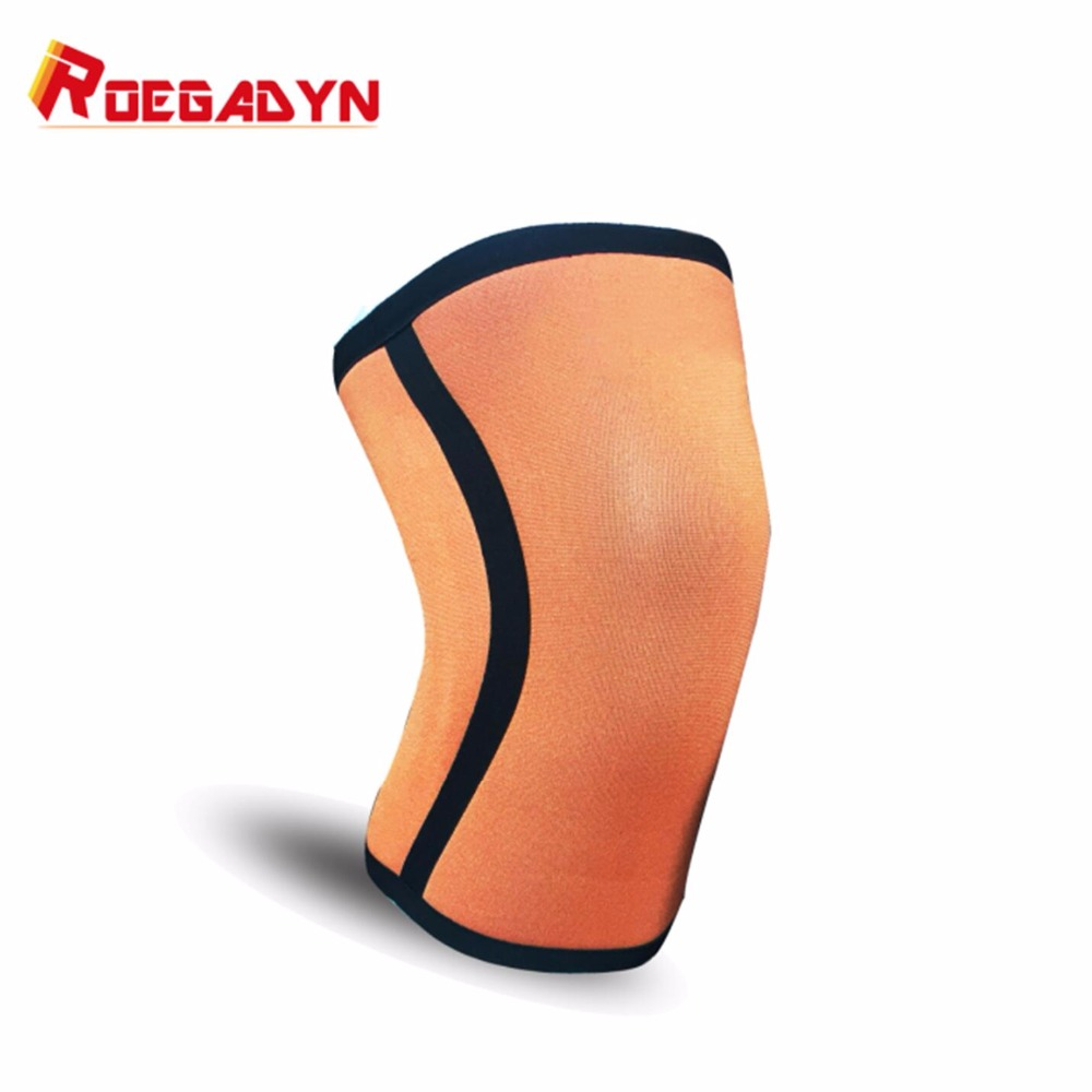 Factory promotional best crossfit cool 7mm neoprene compression squat knee sleeves weightlifting