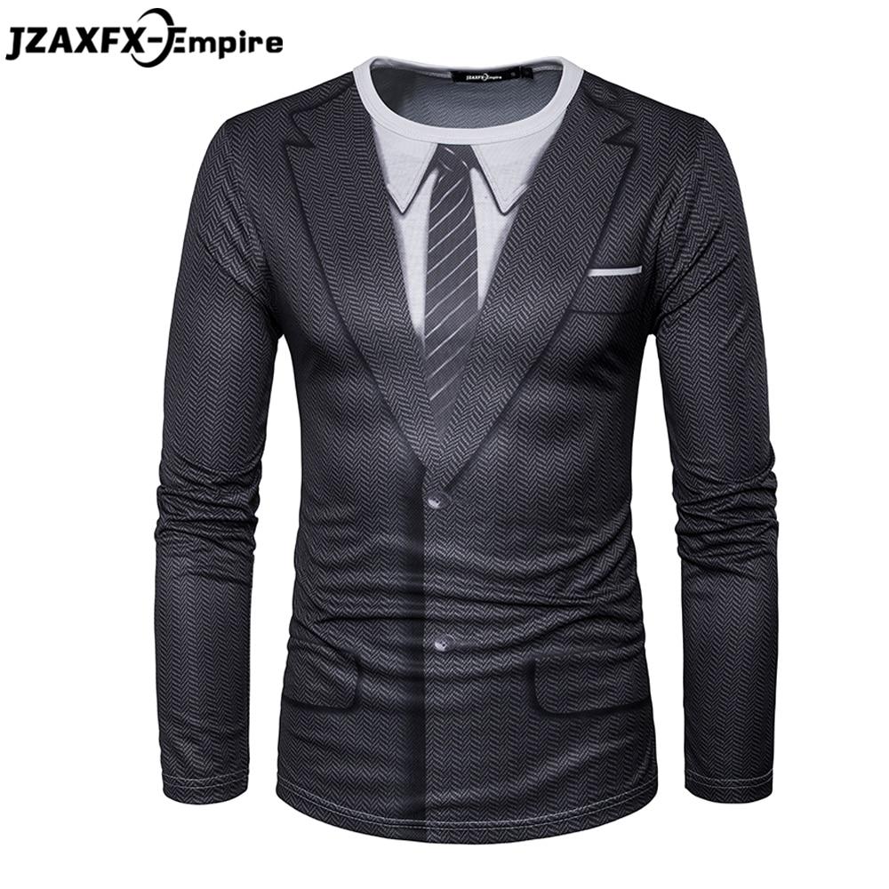 2018 najnovejše moške majice z dolgimi rokavi o vratu moški - Moška oblačila
