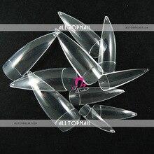 PRO прозрачные накладные ногти острой формы 100 шт французский салон акриловые накладные ногти искусство искусственные ногти советы