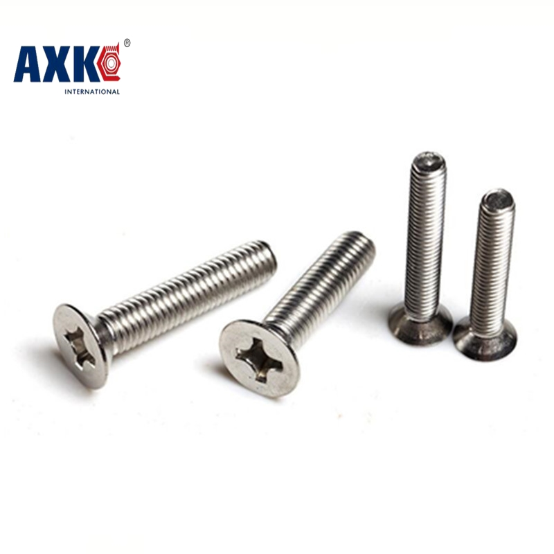 100pcs/lot Din965 <font><b>M4x25</b></font> Stainless Steel A2 Machine Phillips Flat Head (cross Recessed Countersunk Head Screws) Screw <font><b>M4x25</b></font> image