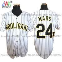 Bruno Mars 24K Hooligans White 20 Pinstriped BET Awards Baseball Jersey Throwback For Men Stripe Stitched