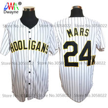 2dc4450a Bruno Mars 24K Hooligans White #20 Pinstriped BET Awards Baseball Jersey  Throwback For Men Stripe Stitched Button Down Glod Edge