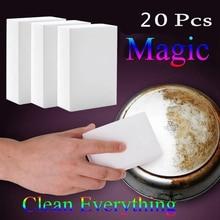 20шт 10x6x2 см меламиновая губка волшебная губка Ластик Меламиновый очиститель для кухня, ванная, офис чистящие нано губки инструменты