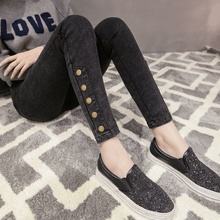 2017 New Fashion Jeans Women Pencil Pants High Waist Jeans Sexy Slim Elastic Skinny Pants Trousers Fit Lady Jeans Plus Size 1348