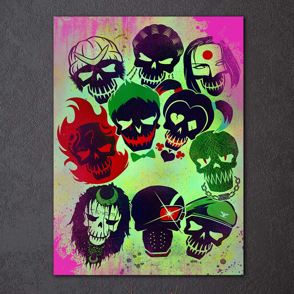 Hd Dicetak 1 Piece Kanvas Lukisan Warna Gambar Graffiti Abstrak