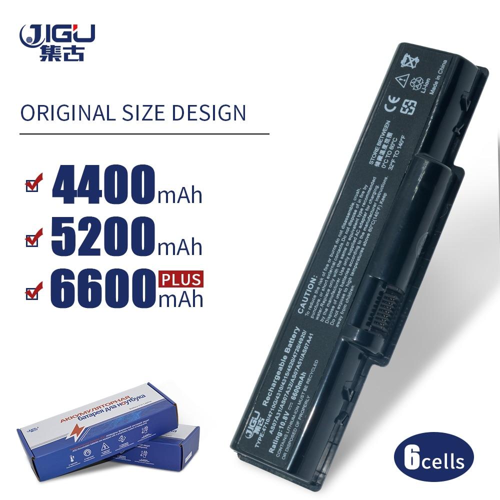 JIGU Laptop batarya için Acer AS07A51 AS07A75 Aspire 5738 5738G 5738Z 5738ZG AS5740 2930 4310 4520 4530 4710 4720 4730 4920 5740