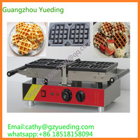 Stainless Steel electric Swings Waffle Maker Commercial Waffle Irons 180 degree swing waffle making machine