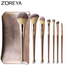 ZOREYA 8pcs Gold Color Makeup Brushes Professional Cosmetic