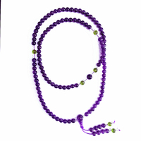 wholesale price high quality purple jewelry Vintage round 108 beads bracelet women Jewellery free shipping