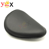 Motorcycle Synthetic Leather Drive Solo Seat For Harley Sportster 883 XL Custom Dyna Fat Bob Wide Glide Street Bob Electra Glide