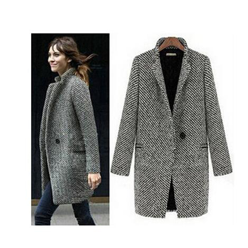 Womens Wool Jacket - Coat Nj