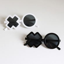 Children glasses ins with fashionable sunglasses for babies boys and girls uv XO