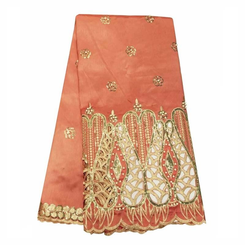 Di alta qualità di seta Indiana George pizzo perline tessuto Africano George tessuto per la sposa abiti da sposa WKS48-29
