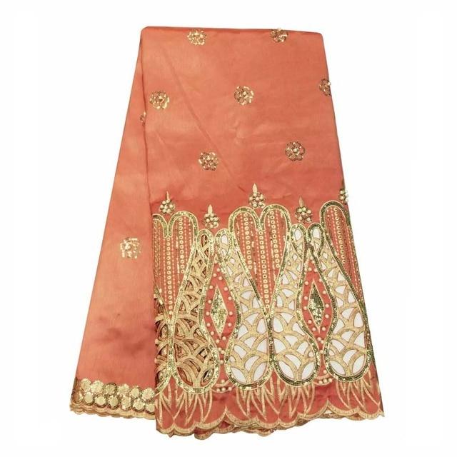 timeless design 36a87 7a1ec US $111.49 |Di alta qualità di seta Indiana George pizzo perline tessuto  Africano George tessuto per la sposa abiti da sposa WKS48 29 in Di alta ...