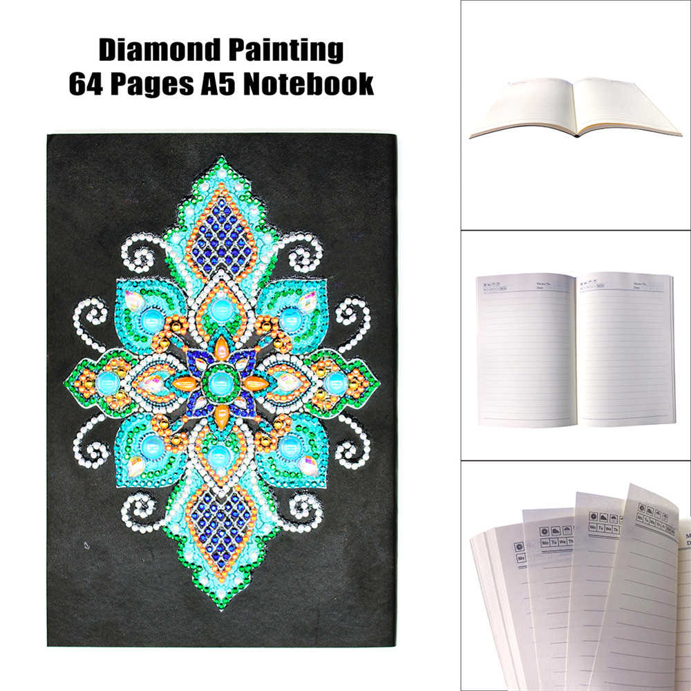 ARMYQZ Special Shaped Diamond Painting Notebook A5 Abstract Mosaic Diamond Embroidery Art Kits Diary Book Picture Of Rhinestones