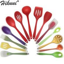 Новые кухонные инструменты для приготовления пищи с покрытием из нейлона и силикона кухонная посуда Лопатка и ложка красочные кухонные принадлежности 6 стилей