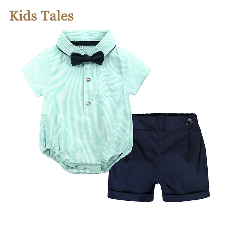 US Newborn Toddler Kids Baby Boys Beach Clothes T Shirt Tee Tops+Pants Outfits