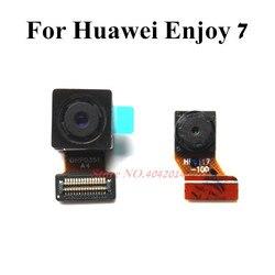100% oryginalna tylna kamera Flex Cable dla Huawei Enjoy 7 SLA-AL00 AL10 TL00 przedni tylny moduł kamery wymiana złącza