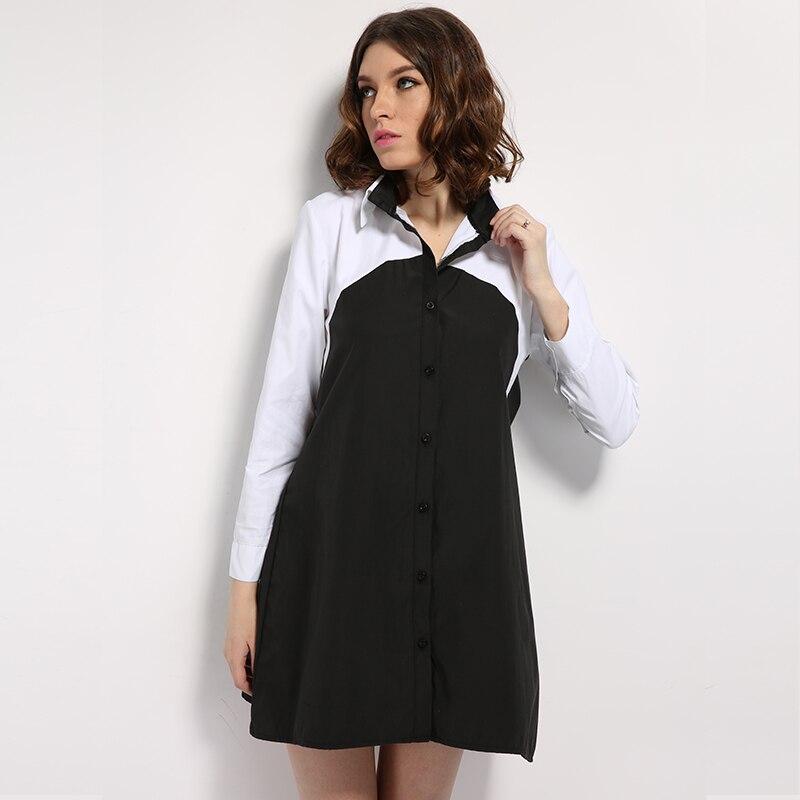 Online Get Cheap Womens Black Button Down Shirt Dresses ...