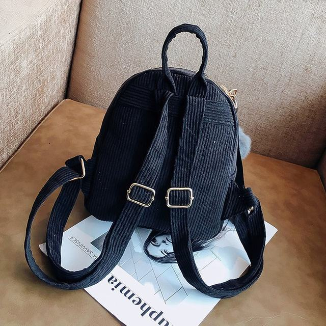 Cute velvet Backpack For Teenagers Children Mini Back Pack Kawaii Girls Kids Small Backpacks female Packbags Fur ball school bag (24)