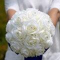 Лучшая Цена Продажи Брошь Букет Свадебный Букет де mariage Полиэстер Свадебные Букеты Кристаллы Блестки Цветами buque де noiva