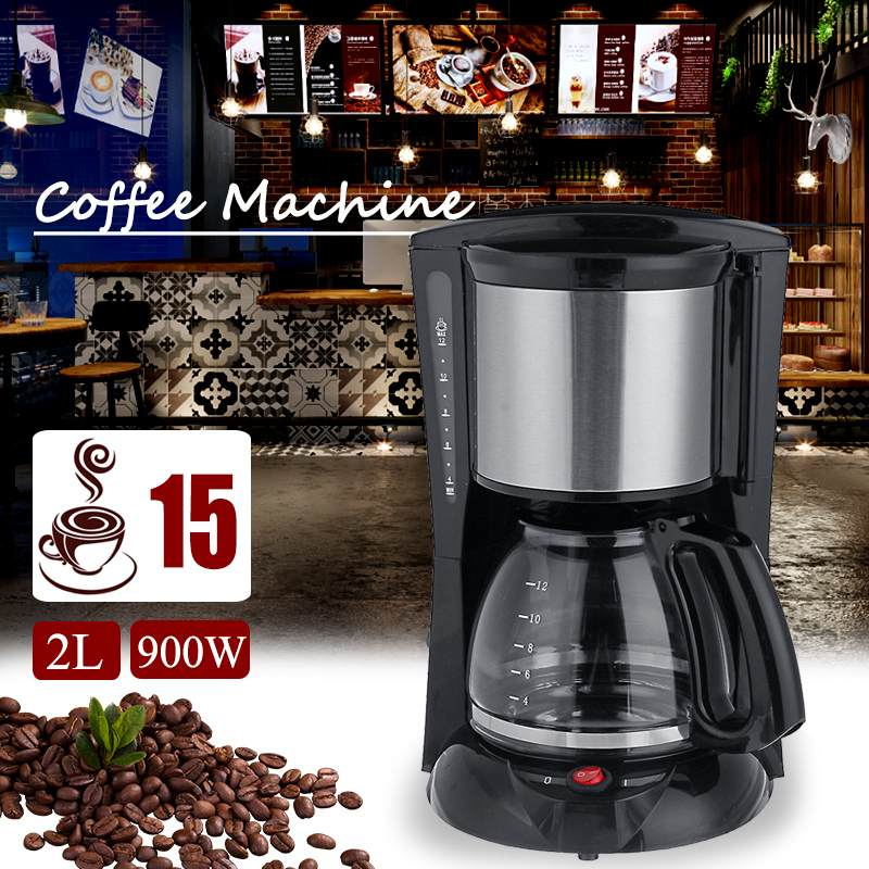Warmtoo 2000ml Household Office American Style Drip Tea/Coffee Making Machine 12 Cups Coffee Maker 900W Temperature Control