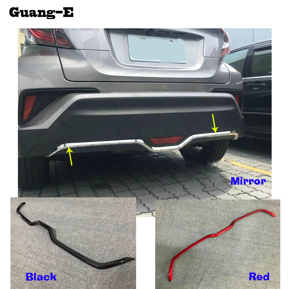 Car body cover protection Bumper ABS Chrome trim rear back tail bottom hoods pedal moulding For TOYOTA C-HR CHR 2017 2018