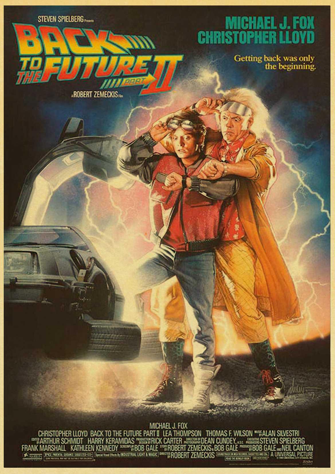 HTB1BwHBlf9TBuNjy0Fcq6zeiFXao Sci-fi Back to The Future Film Propaganda Retro Kraft Poster Decorative DIY Wall Canvas Sticker Home Bar Art Posters Decor