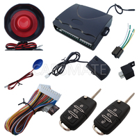 In Stock One Way Car Alarm System With Flip Remote Controls Bkank Keys Selectable Alarm With