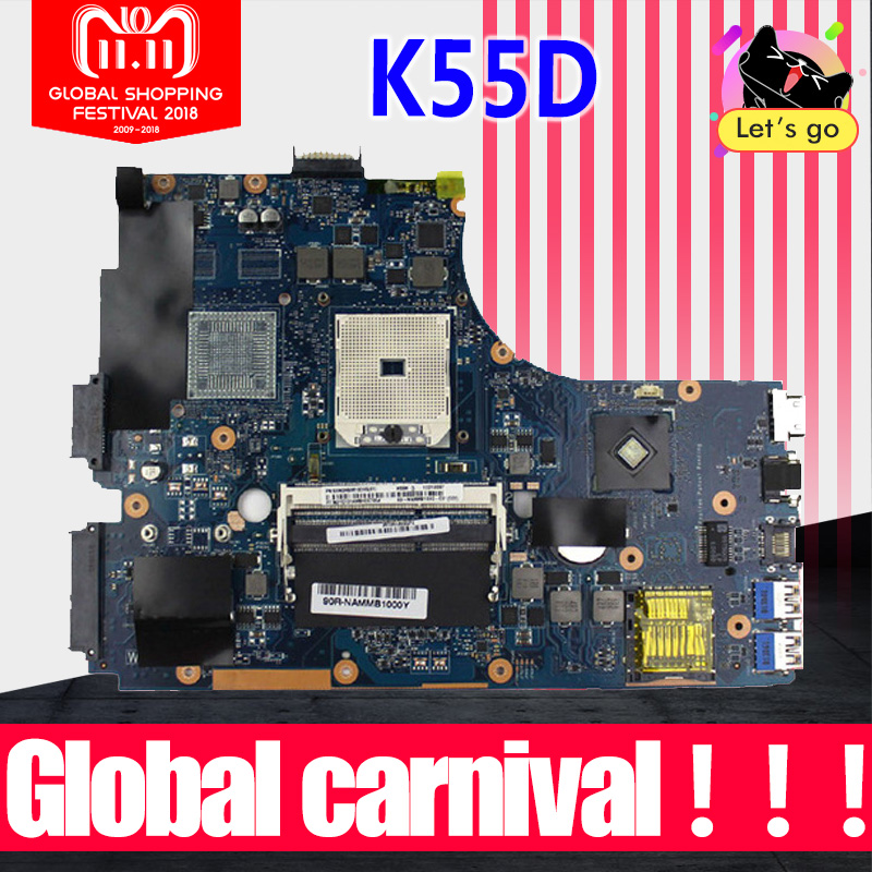 все цены на K55DR REV:2.0 K55N Motherboard for ASUS K55D K55DR K55DE A55D Integrated 69N0M9M10D05 Fully Tested Good Mainboard Motherboard онлайн