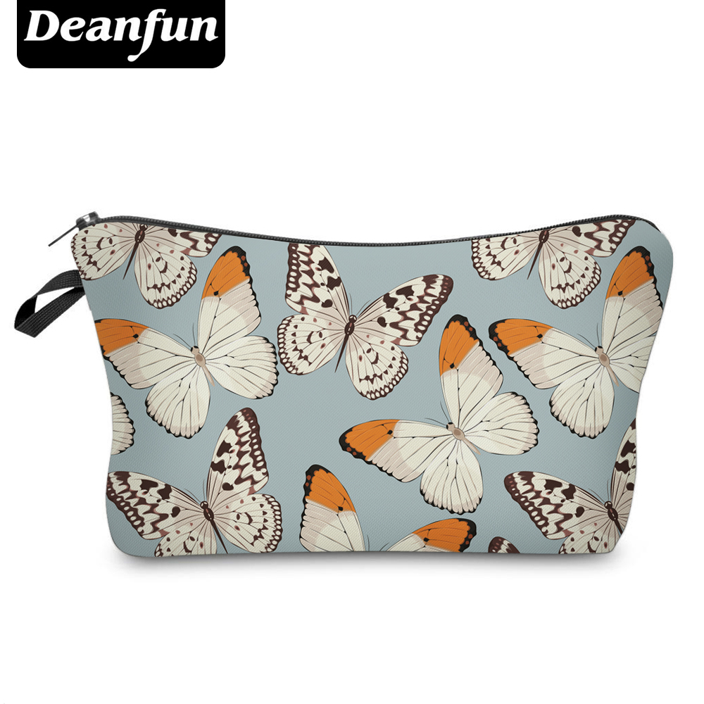 Deanfun Cosmetic Bags 3D Printed Colorful Butterfly Pretty for Girls Storage Toiletry Travelling Necessary 50908 женская рубашка lan color butterfly pretty dl539 2015