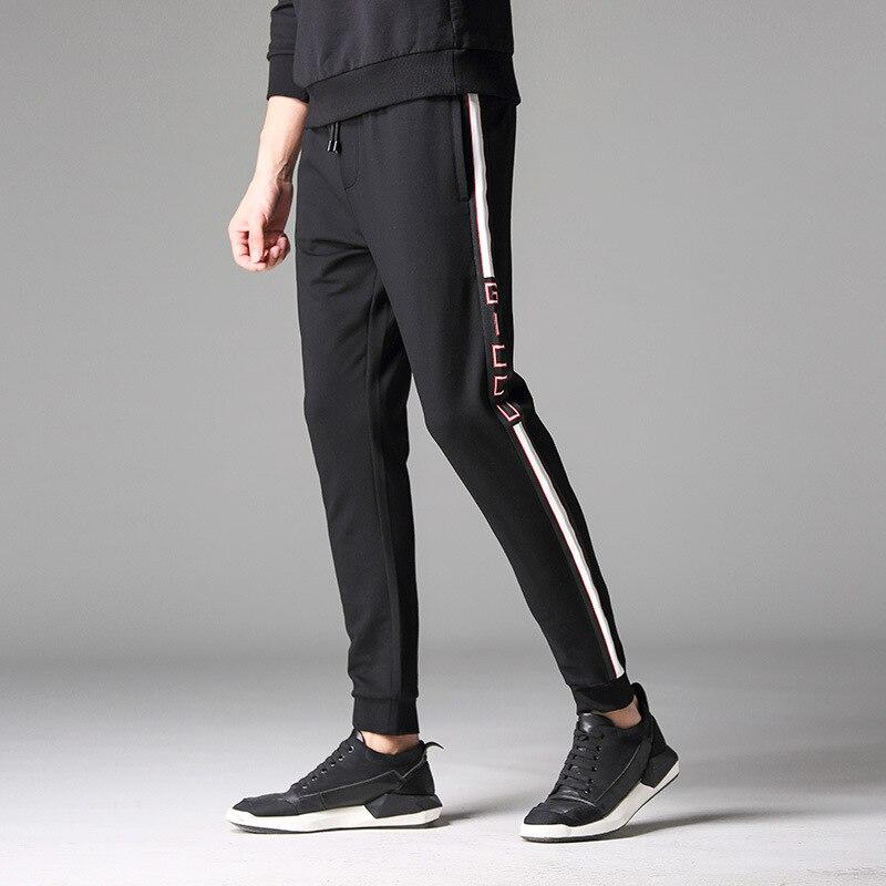 Gris Hommes Casual Noir gris Taille Élastique Hombre 4xl Ledingsen Coton Fitness Imprimé Piste 2018 Pantalon Noir 14xEg