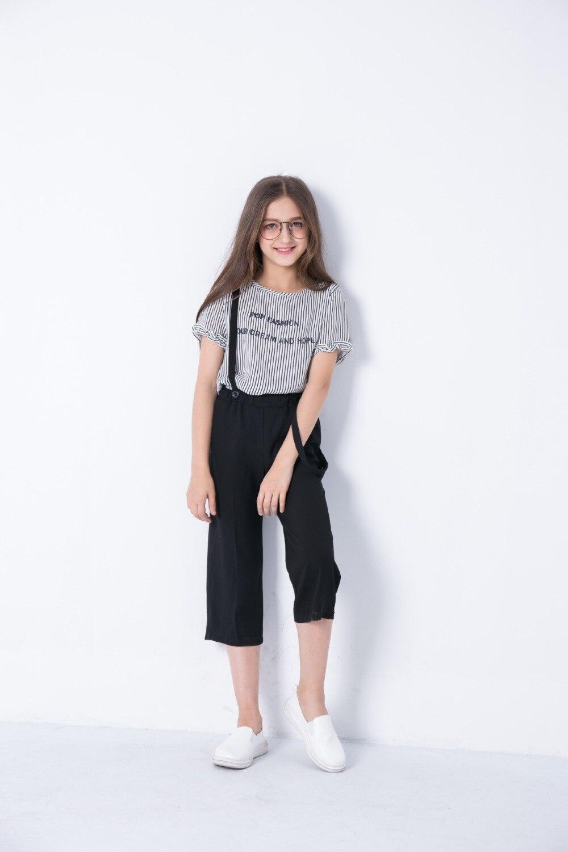 6a25cd3e4 Chilren clothes Summer Teen Girls Clothing Set 6 7 8 9 10 11 12 13 ...