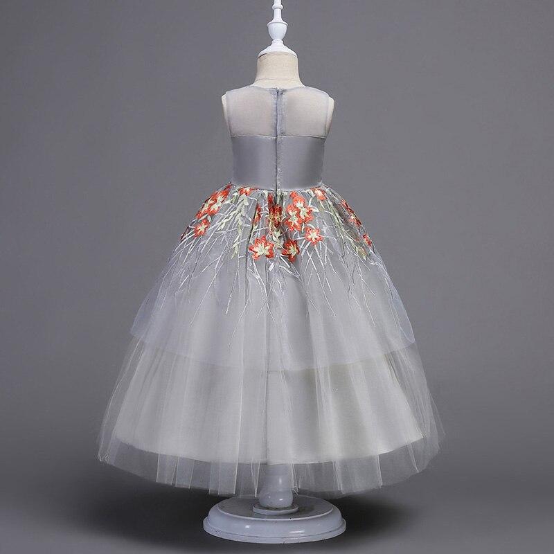 2019 mode été fille robe élégante broderie Tutu princesse presse pour enfant filles fête robe de mariée vêtements - 6