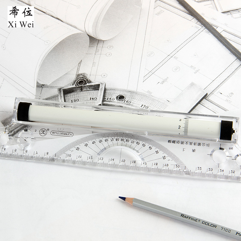 Butterfly 30cm Parallel Ruler Rolling Angle Balance Registration Architect Design Drawing Tool