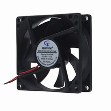 5Pcs Gdstime DC 48V 0.1A 2 Wire 80mm 80X80X25mm Server Square Cooling Fan sunon pmd1204ppb1 a 2 gn dc 12v 16 8w 40x40x56mm 4 wire server square fan