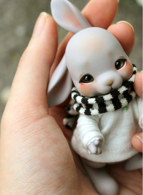 1 12 dolls two face bunny free eyes can choose color