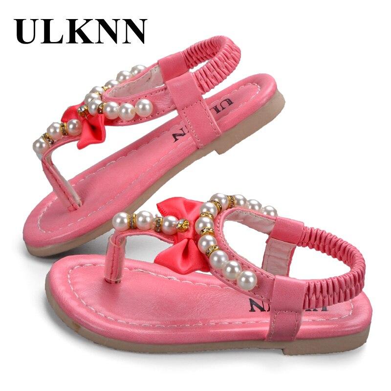 ULKNN 2020 Girls Sandals Kids Summer Sandals Sweet Gentlewomen Flower Toe Cap Covering Sandals Girls Shoes