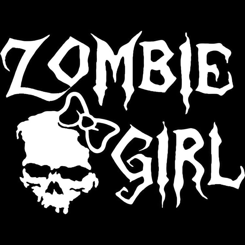 16cm12cm zombie girl skull walking dead car truck window vinyl decal sticker car styling car stickers black sliver c8 0385 in car stickers from automobiles