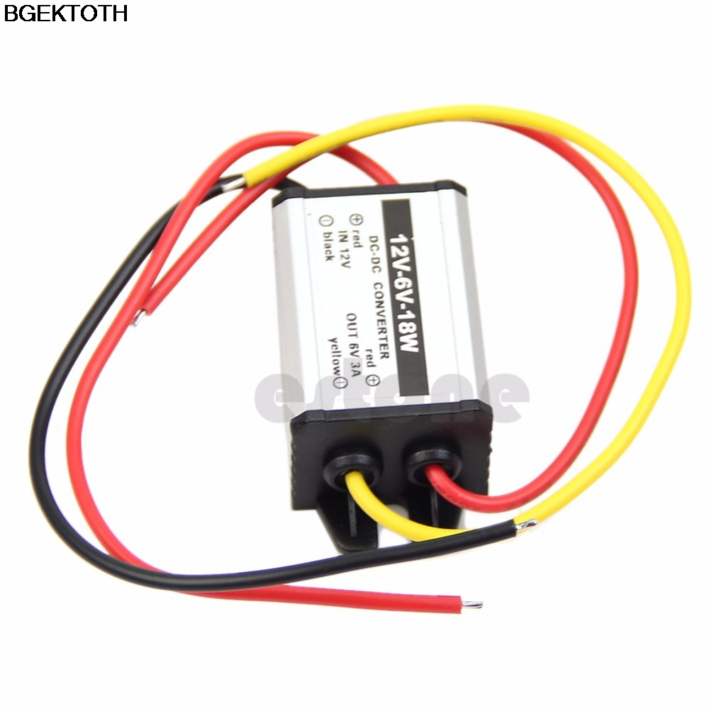 Waterproof DC to DC buck Converter 12V to 6V 18W Power Supply Module