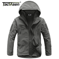 TACVASEN Army Camouflage Men Jacket Coat Military Tactical Jacket Soft Shell Waterproof Jacket Windproof Hunt Raincoat