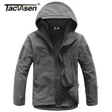 TACVASEN Army Camouflage Jacket Coat Men Tactical Jacket Softshell Waterproof Jacket Fleeced Windproof Military Hunt Clothing