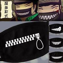Nan bao9 Women Men Black Anti-Dust Cotton Cute Bear Anime Cartoon Mouth Mask Kpop teeth mouth Fashion Muffle Face Mouth Masks(China)