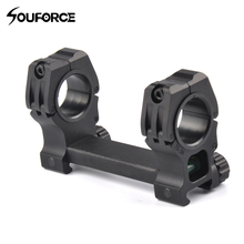 Tatical Double Ring Bubble Level 30mm Rifle Scopes Mount for 20mm Picatinny Weaver Rail Hunting