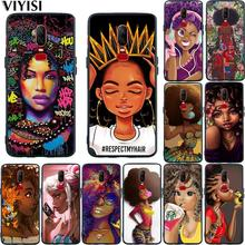 Coque For Oneplus 7 Pro Case 6T 6 5 5T African Beauty Girl Phone Black silicone TPU Cover Etui Funda Shell Luxury Fashion
